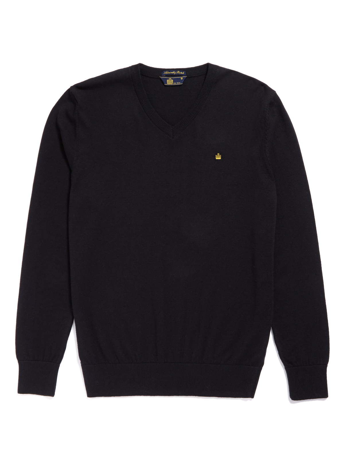 black jumper admiral black cotton cashmere jumper LRWHHEN