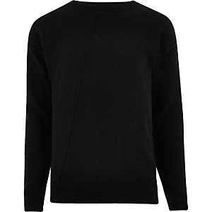 black jumper black only u0026 sons knit jumper BKEMDTA