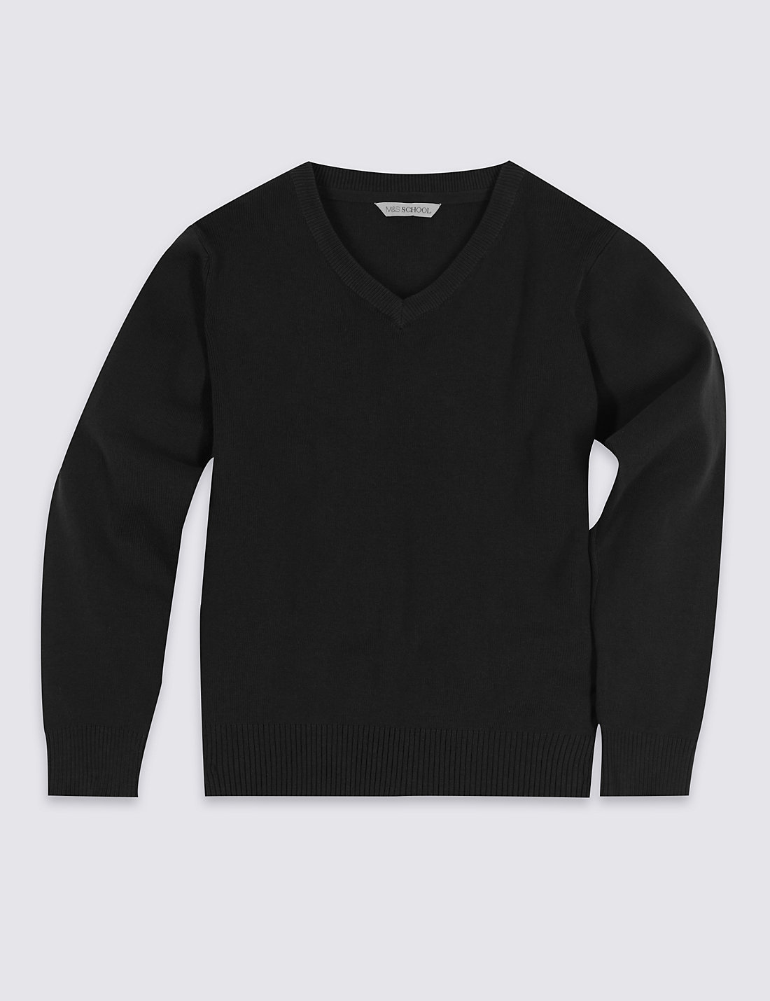 black jumper unisex cotton rich jumper GVKBEIG