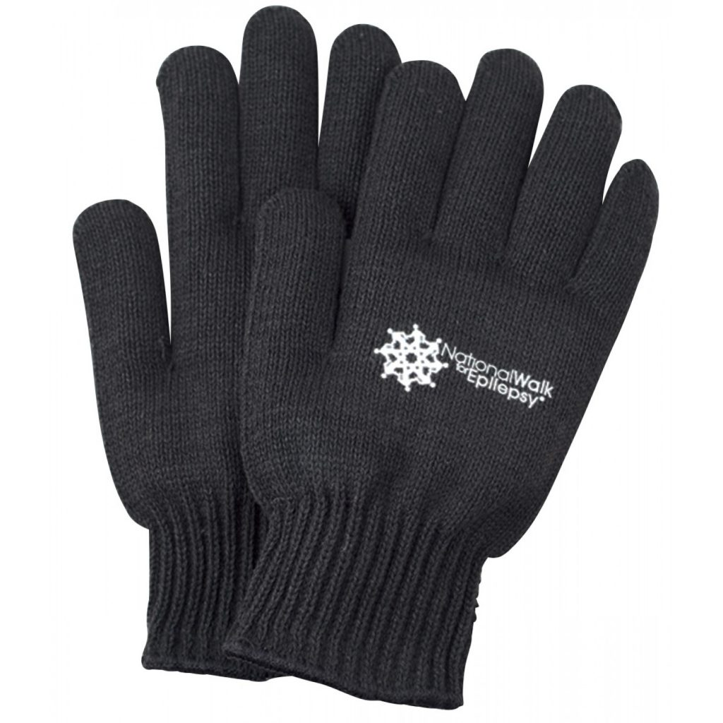 black knit gloves with medium weight VSYICPA
