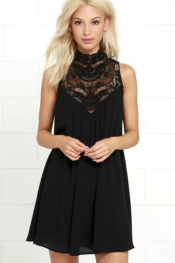 black lace dress asana black lace swing dress 1 VGJFBCF