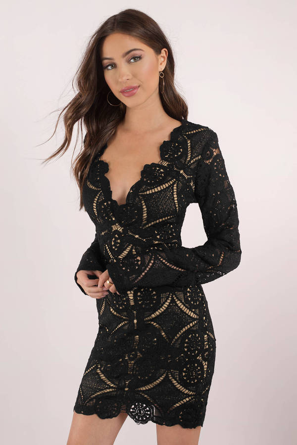 black lace dress lace is more black bodycon dress FLRTXMI