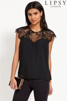 black lace tops lipsy lace sweetheart top RXYJIQI