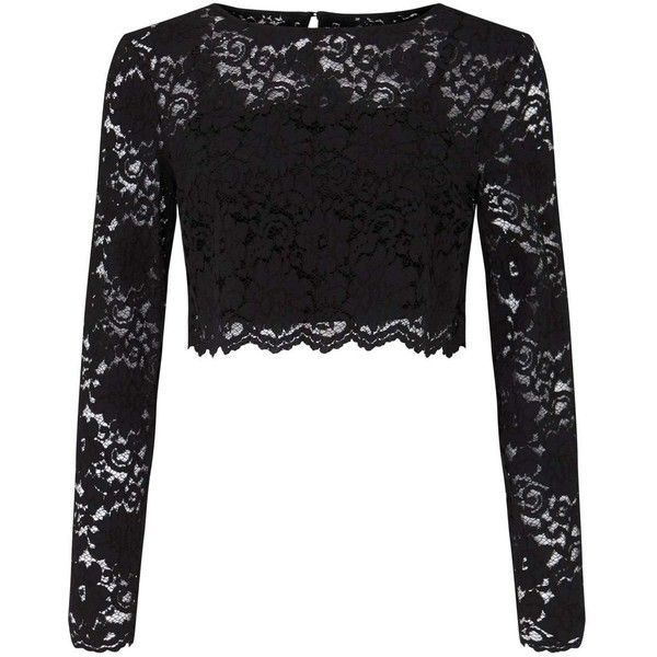 black lace tops miss selfridge black lace top (1 235 uah) ❤ liked on polyvore featuring tops ITSWOOJ
