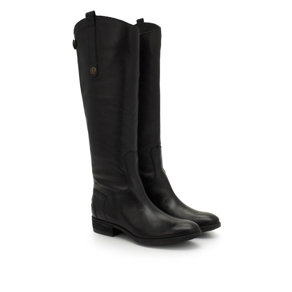 black riding boots penny leather riding boot - boots | samedelman.com VXPLLEB