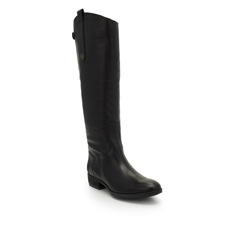 black riding boots tap tap to zoom. penny leather riding boot by sam edelman - black ... FVZIPYZ