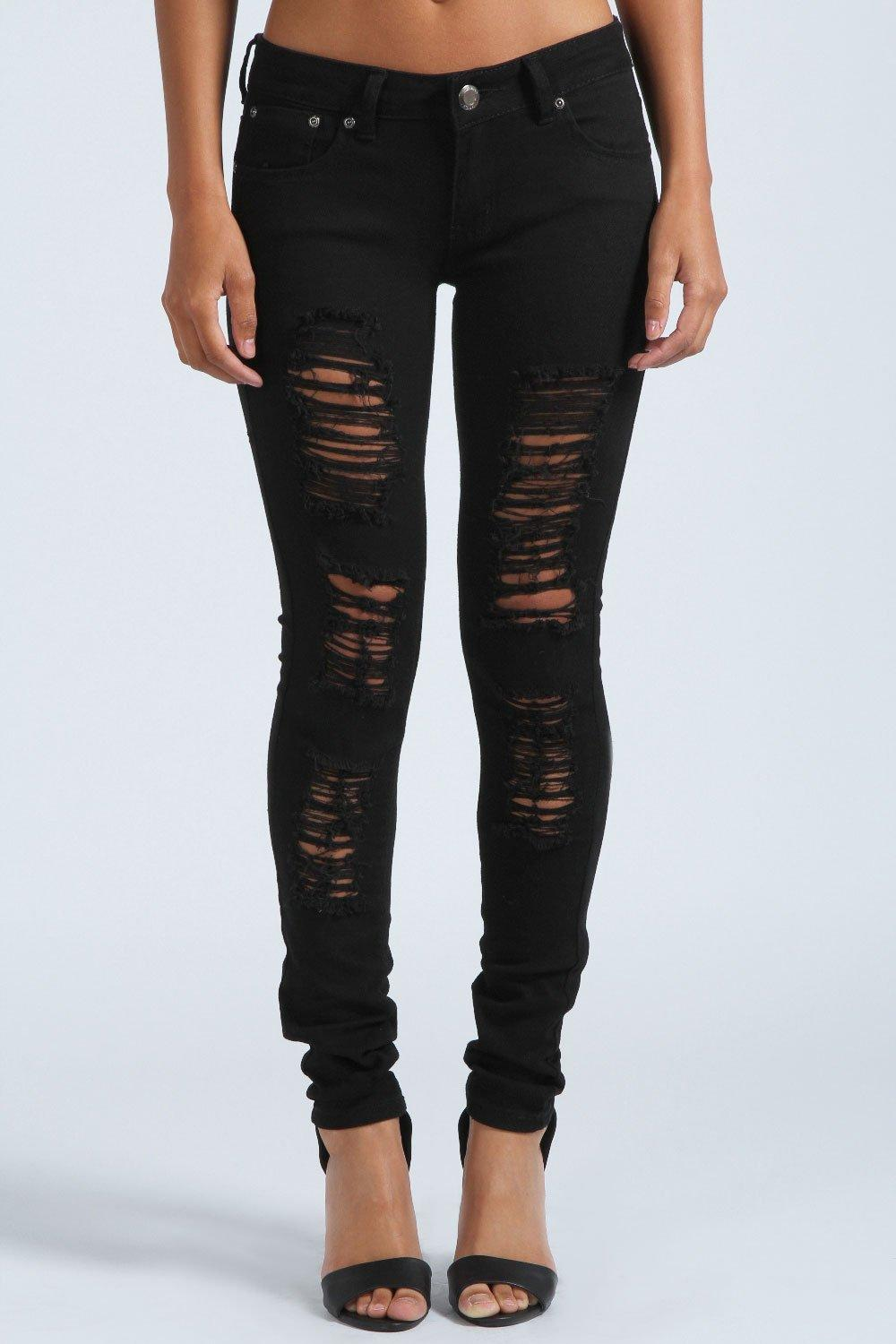 black ripped skinny jeans jenny ripped skinny jeans. hover to zoom PLSNNTK