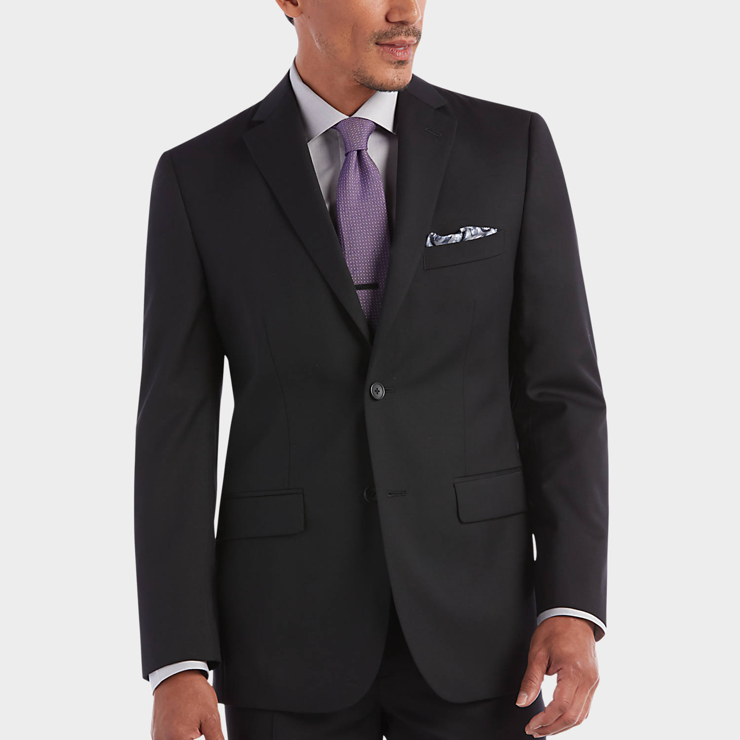black suits 100% wool black slim fit suit - menu0027s suits - awearness kenneth cole | FYNIETF