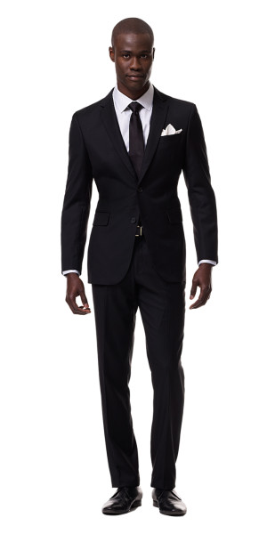 black suits black custom suit | black lapel TUGBIWT