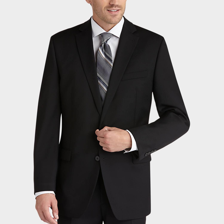 black suits calvin klein black slim fit suit - menu0027s slim fit | menu0027s wearhouse MAXEBBJ