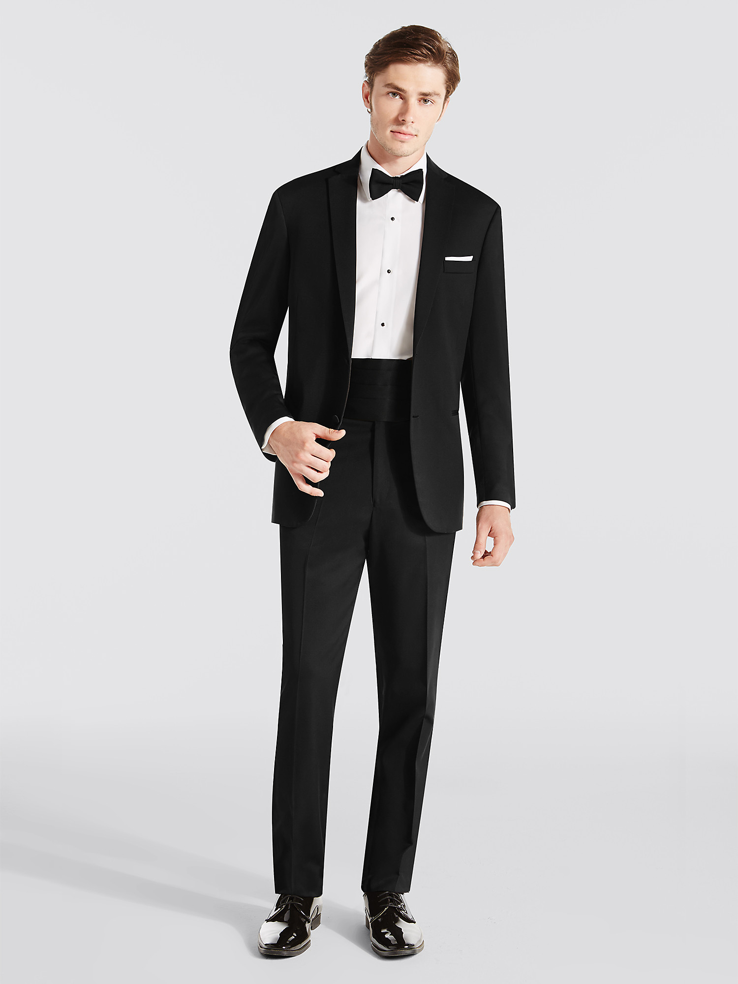 Steal the limelight with a black tuxedo