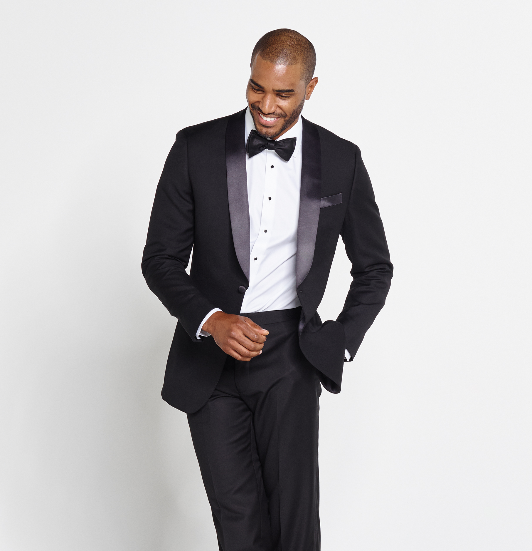 black tuxedo shawl collar tuxedo | the black tux UWKBVPR