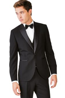 black tuxedo signature textured tuxedo tailored fit suit ZVROHHX
