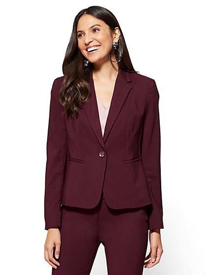 blazers for women 7th avenue - ruffled-back jacket - all-season stretch - new york ... KHCFCAO