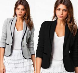 blazers for women drop shipping new blazer women fashion womenu0027s spring slim short design  turn-down collar blazer VADYQMM