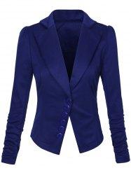 blazers for women lapel one button asymmetric blazer WRVAXSF
