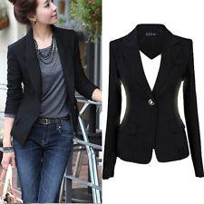 blazers for women us womenu0027s one button slim casual business blazer suit jacket coat outwear  tops UTIHBBN