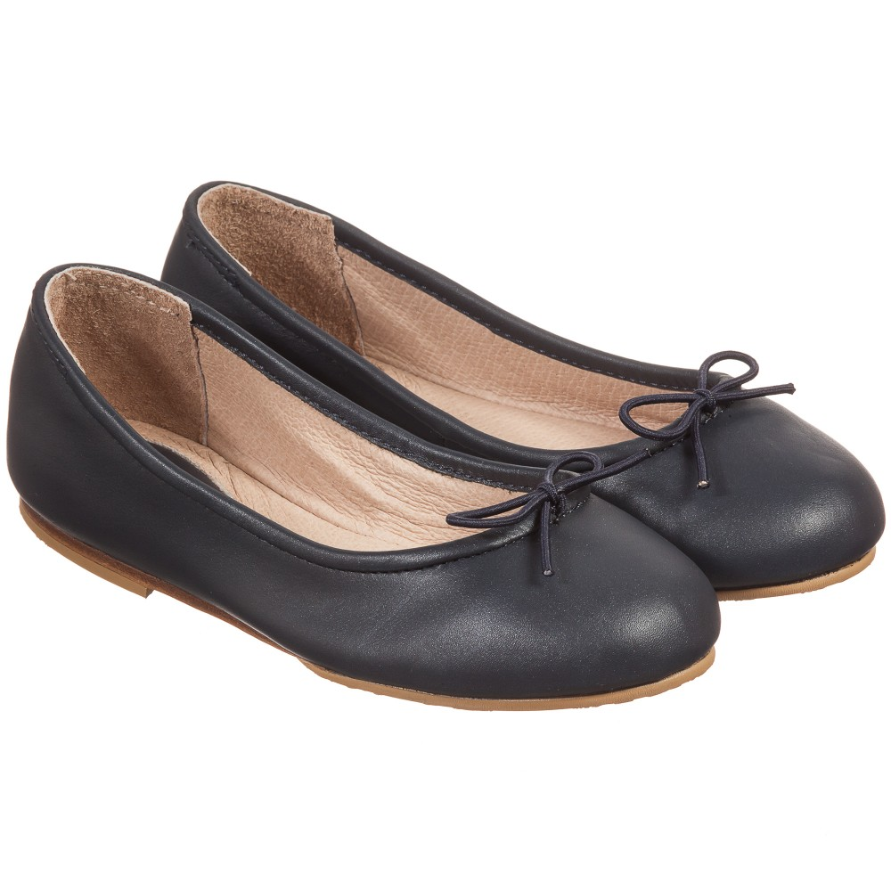 bloch - girls navy blue leather u0027arabellau0027 ballerina pumps | childrensalon IFNDDXK