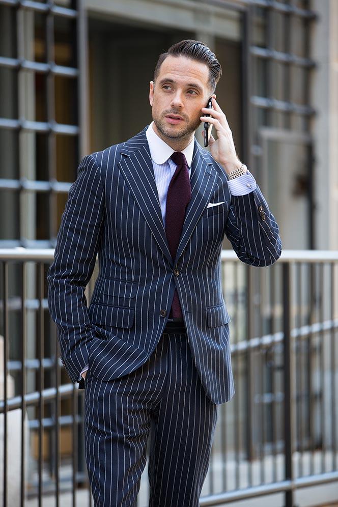 blue pinstripe suit DFMXXHI