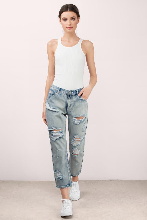 boyfriend jeans ... silver lake balboa denim jeans EAQMFLH