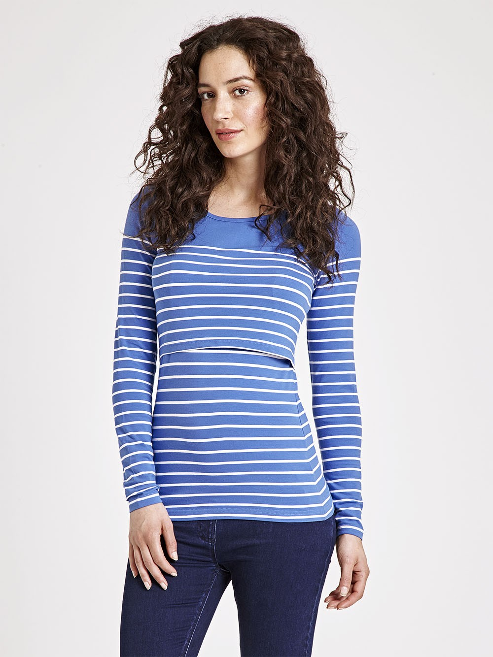 breastfeeding tops breton stripe feeding top HWIDGDC