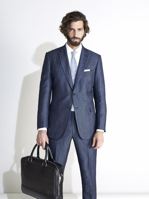 brioni suits brioni mens suit ss 2013 collection- denim-linen suit FTYZIMH