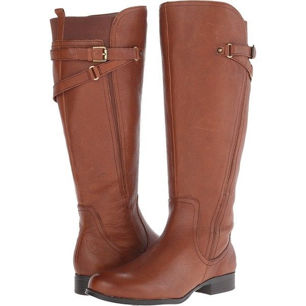 brown boots naturalizer jaycee wide calf womenu0027s shoes, brown ($115) ❤ liked on  polyvore featuring shoes, MRKJVRN