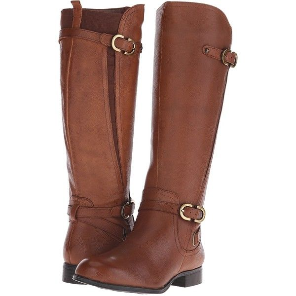 brown boots naturalizer jennings womenu0027s shoes, brown ($110) ❤ liked on polyvore  featuring shoes, JLXWDYW