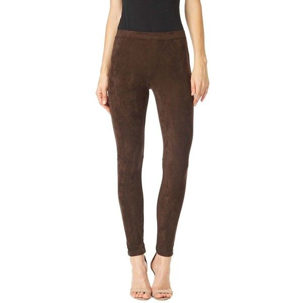 brown leggings womenu0027s sanctuary u0027greaseu0027 leggings ($109) ❤ liked on polyvore featuring  pants, LVYNADT