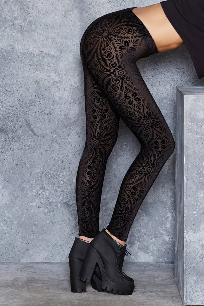 burned velvet leggings NFEPIKW
