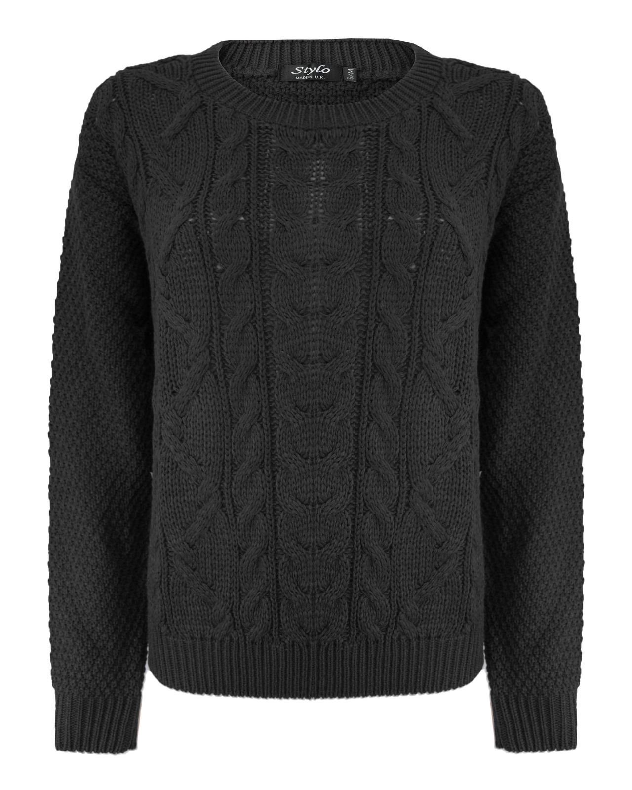 cable knit jumper new-ladies-women-knitted-cable-knit-jumper-chunky- FFVVDEG