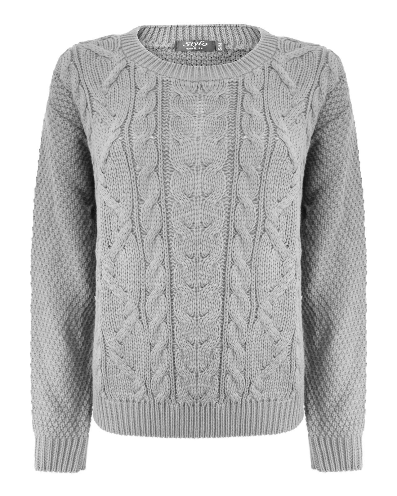 cable knit jumper new-ladies-women-knitted-cable-knit-jumper-chunky- NYHGHIA
