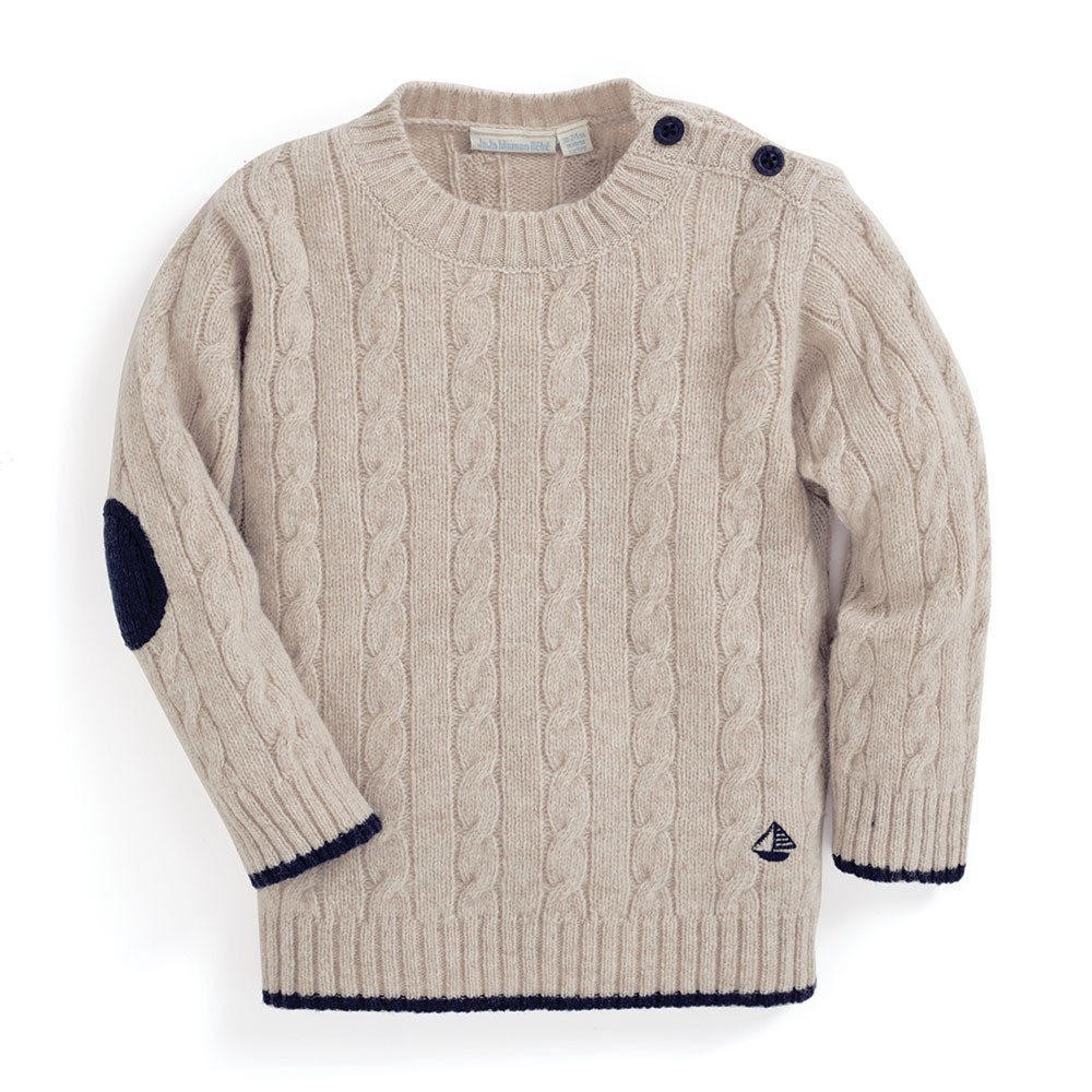 Perfect cable knit jumper to be worn with pride