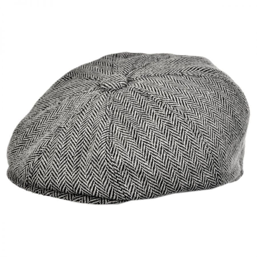 cap hat jaxon hats herringbone wool blend newsboy cap KRPCIEY