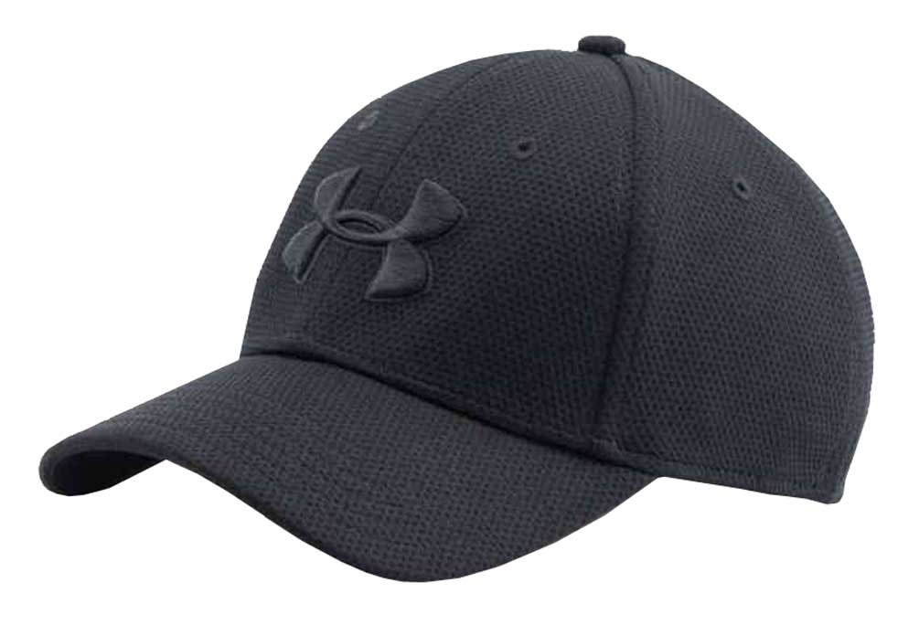 cap hat under armour 1254123 menu0027s blitzing ii stretch fit cap lightweight hat m/l  maroon 609 ORLVFHD