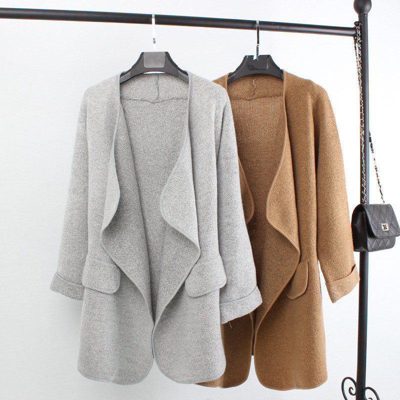 cardigans for women aliexpress.com : buy new autumn top grade open stitch long cotton wool women  cardigan INDDNPL