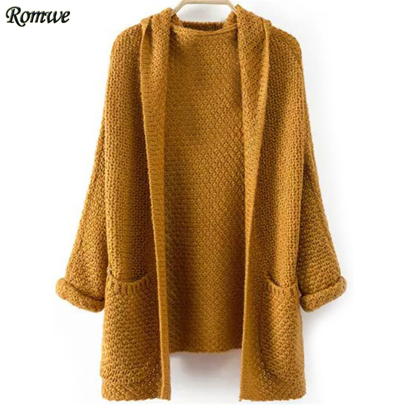cardigans for women romwe female 2016 autumn casual brand wear fashionable new arrival womenu0027s  loose pockets hooded AITVIMF