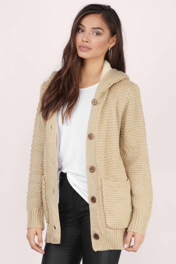 cardigans for women ... taupe, warm up sherpa lined cardigan, tobi JSGUTJP