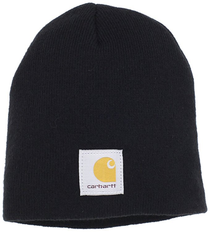 carhartt menu0027s acrylic knit hat, black, one size at amazon menu0027s clothing  store: skull EXRZIQA