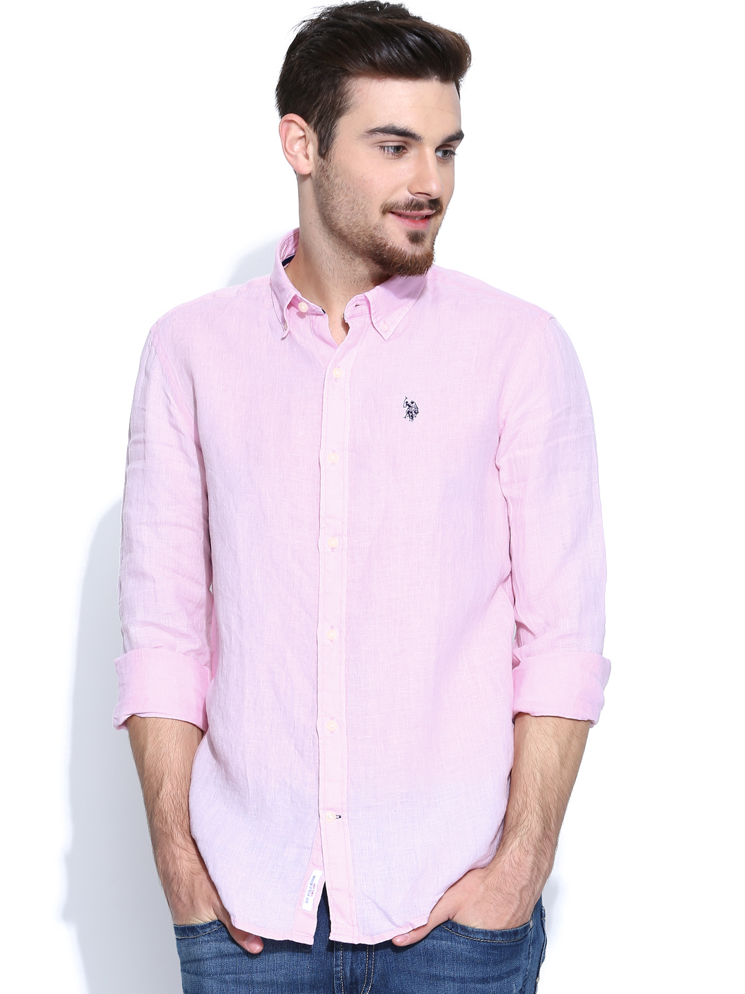 casual pink shirt for men men light pink shirt - buy men light pink shirt online in india UFWOCTV