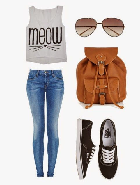 casual tank look cute outfits for school, check it out at https:// IYJKQNG