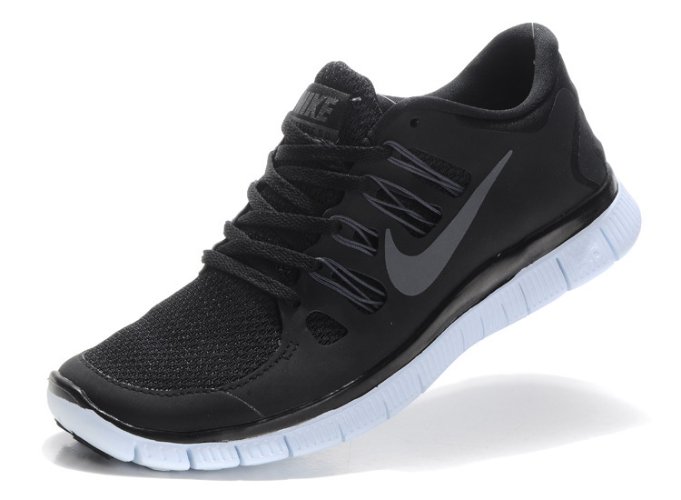 cheap nike free run 5 women v2 black silver MRFVVTP