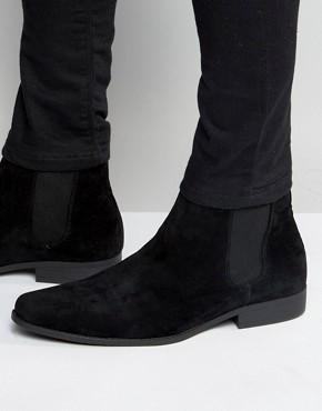 chelsea boot asos chelsea boots in black faux suede BCZMXQA