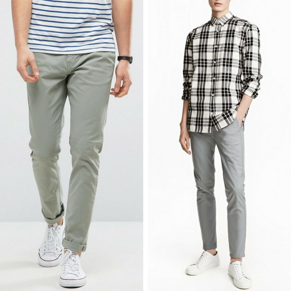 chinos for men chinos skinny fit by hu0026m PQTWQHX