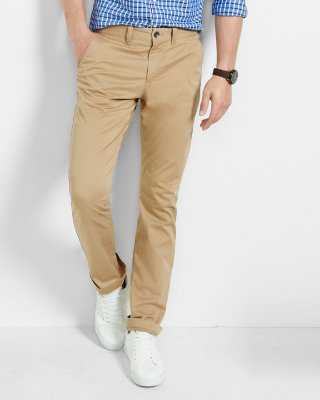 chinos for men slim fit flex stretch khaki chino pant | express XPWLTQC