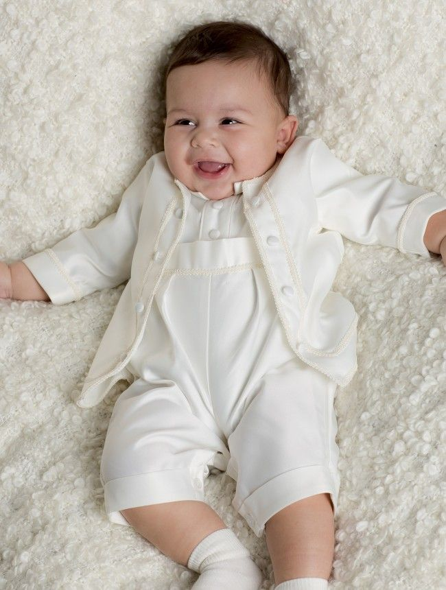 christening outfits for boys baby boys ivory christening romper suit, boys christening outfit, available  from 0 - 24 UDVRAZJ
