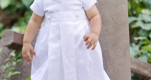 christening outfits for boys boys christening cotton weaved romper w/ detachable gown BPLFAIO