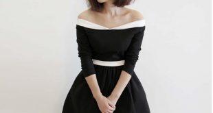 classic dresses classic 50s 60s pin up vintage audrey hepburn lbd long sleeve elegant dress  high WAUEVED