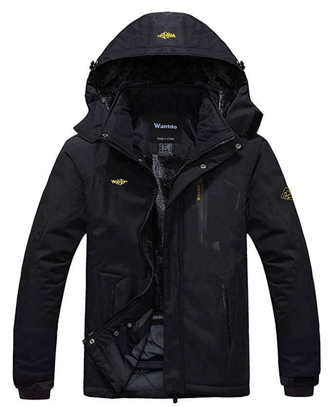 coats for men amazon.com : wantdo menu0027s mountain waterproof fleece ski jacket windproof  rain jacket : sports TGSMCNJ