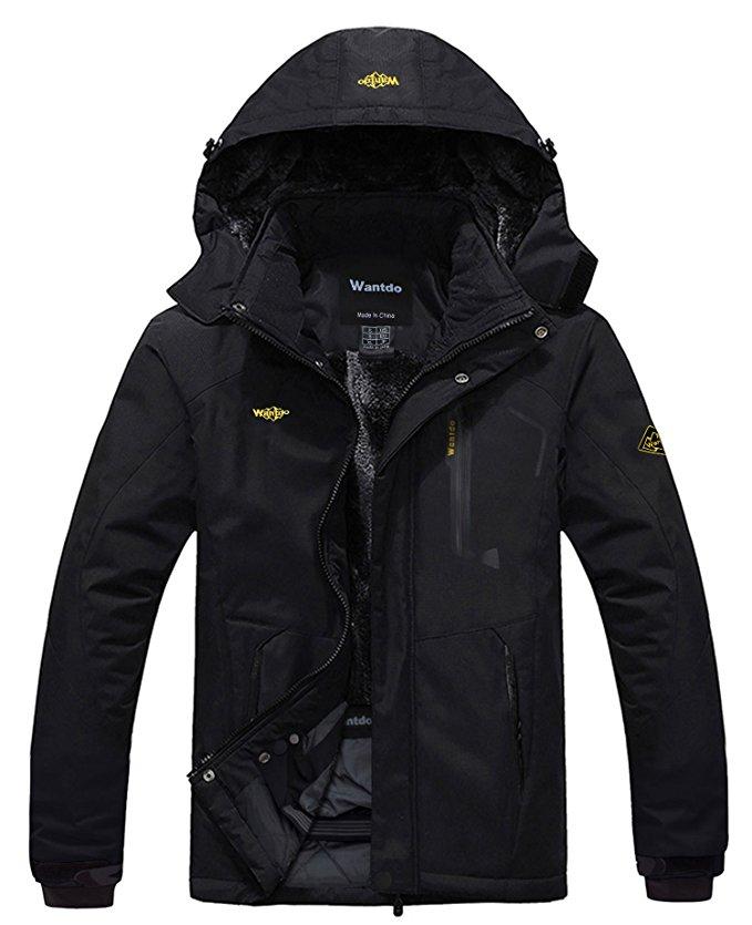coats for men amazon.com : wantdo menu0027s mountain waterproof fleece ski jacket windproof  rain jacket : sports TGSMCNJ